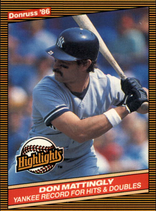 1986 Donruss Highlights #53 Don Mattingly