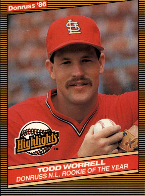 1986 Donruss Highlights #54 Todd Worrell