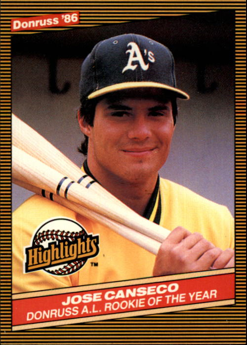 1986 Donruss Highlights #55 Jose Canseco