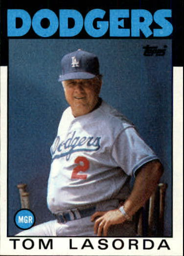 1986 Topps #291 Tom Lasorda MG