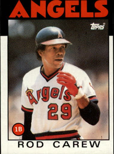 1986 Topps #400 Rod Carew