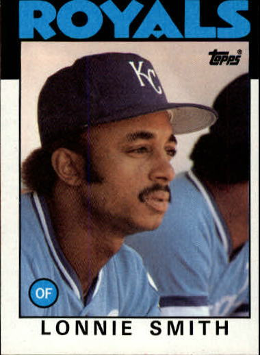 1986 Topps #617 Lonnie Smith