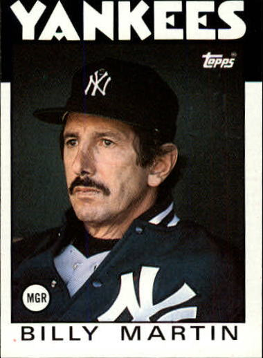 1986 Topps #651 Billy Martin MG/TC