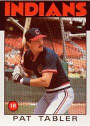 1986 Topps #674 Pat Tabler
