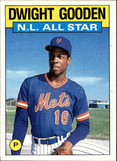 1986 Topps #709 Dwight Gooden AS