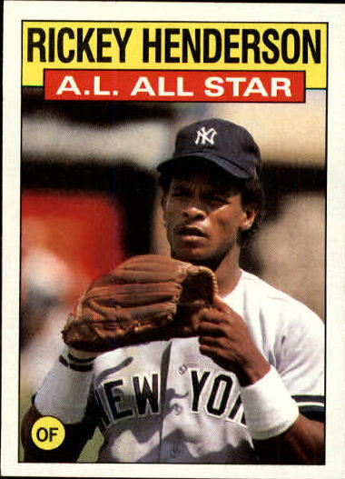 1986 Topps #716 Rickey Henderson AS