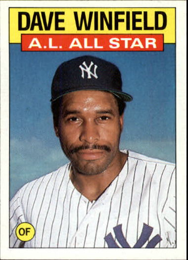 1986 Topps #717 Dave Winfield AS