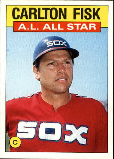 1986 Topps #719 Carlton Fisk AS front image
