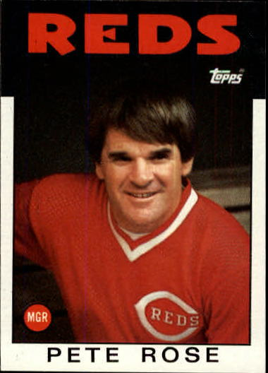 1986 Topps #741 Pete Rose MG/TC