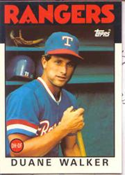 1986 Topps Tiffany #22 Duane Walker