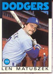 1986 Topps Tiffany #109 Len Matuszek