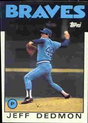 1986 Topps Tiffany #129 Jeff Dedmon