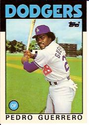 1986 Topps Tiffany #145 Pedro Guerrero