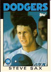 1986 Topps Tiffany #175 Steve Sax