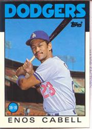 1986 Topps Tiffany #197 Enos Cabell