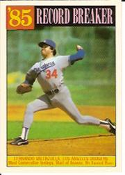 1986 Topps Tiffany #207 Fernando Valenzuela RB/Most cons. innings&/start