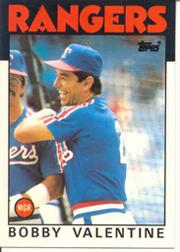 1986 Topps Tiffany #261 Bobby Valentine MG/(Checklist back)