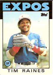 1986 Topps Tiffany #280 Tim Raines