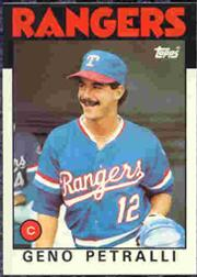 1986 Topps Tiffany #296 Geno Petralli