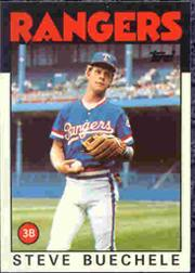 1986 Topps Tiffany #397 Steve Buechele