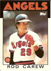 1986 Topps Tiffany #400 Rod Carew