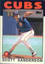 1986 Topps Tiffany #406 Scott Sanderson