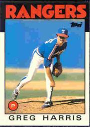 1986 Topps Tiffany #586 Greg Harris