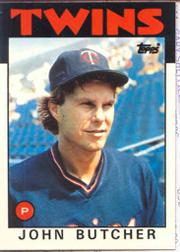 1986 Topps Tiffany #638 John Butcher