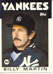 1986 Topps Tiffany #651 Billy Martin MG/TC front image