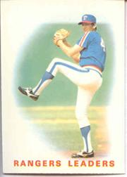 1986 Topps Tiffany #666 Rangers Leaders/Charlie Hough