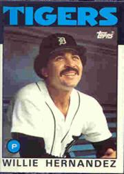 1986 Topps Tiffany #670 Willie Hernandez