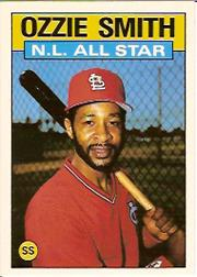 1986 Topps Tiffany #704 Ozzie Smith AS