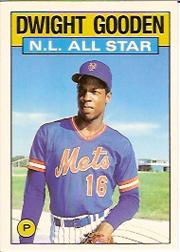 1986 Topps Tiffany #709 Dwight Gooden AS
