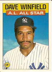 1986 Topps Tiffany #717 Dave Winfield AS