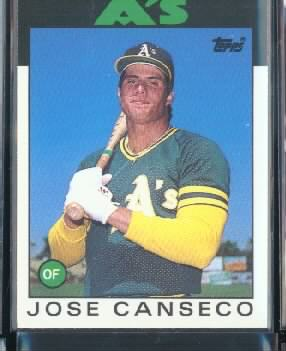 1986 Topps Traded #20T Jose Canseco XRC