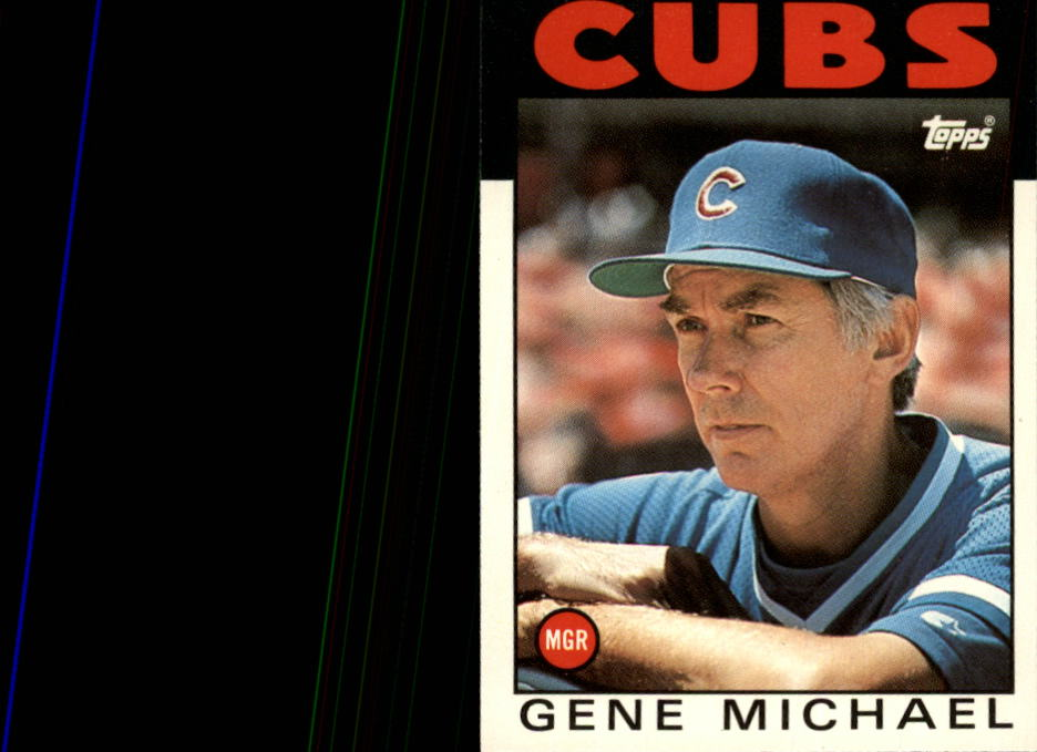 1986 Topps Traded #73T Gene Michael MG