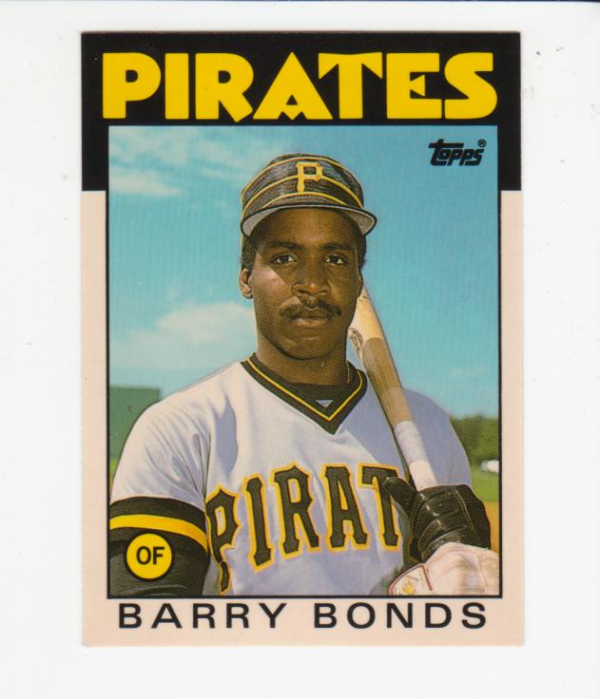 1986 Topps Traded Tiffany #11T Barry Bonds front image