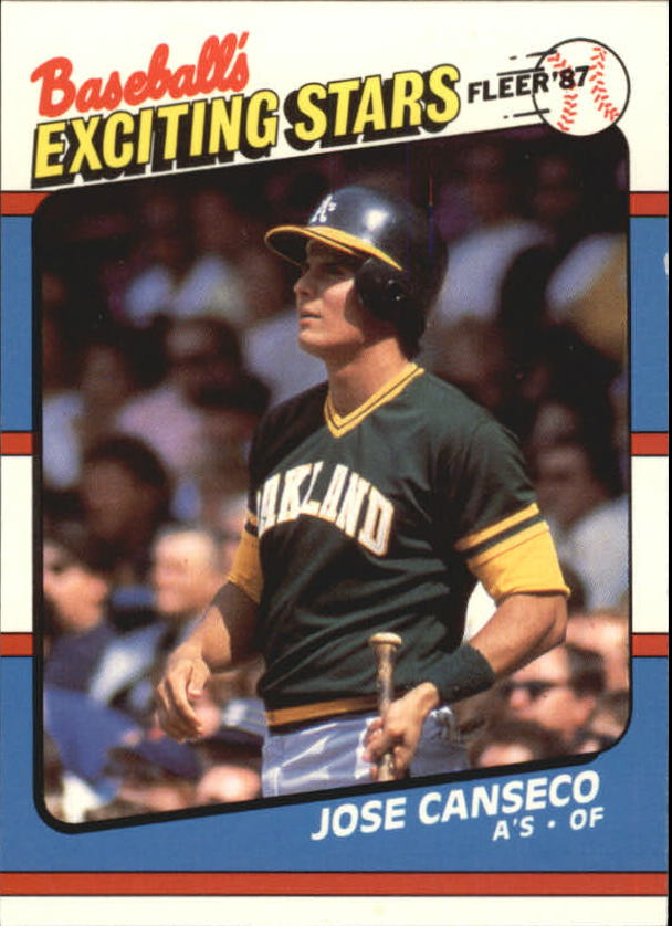 1987 Fleer Exciting Stars #7 Jose Canseco