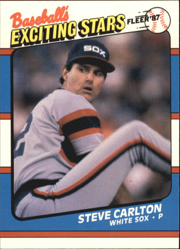 1987 Fleer Exciting Stars #8 Steve Carlton front image