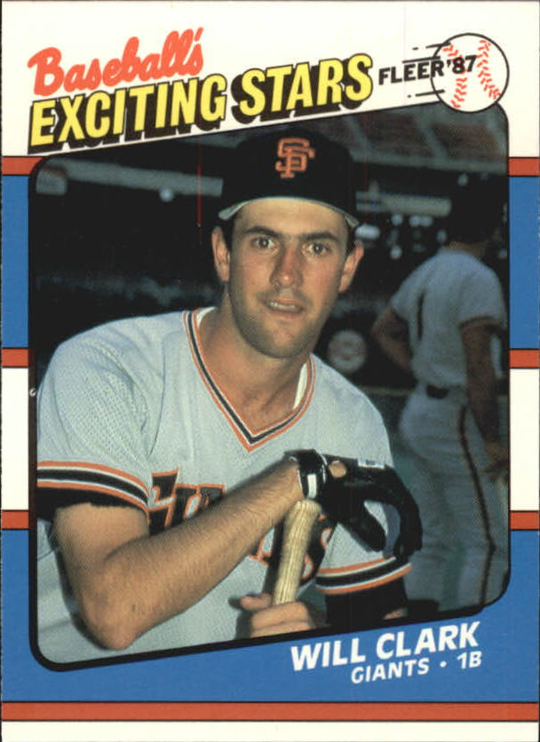 1987 Fleer Exciting Stars #10 Will Clark