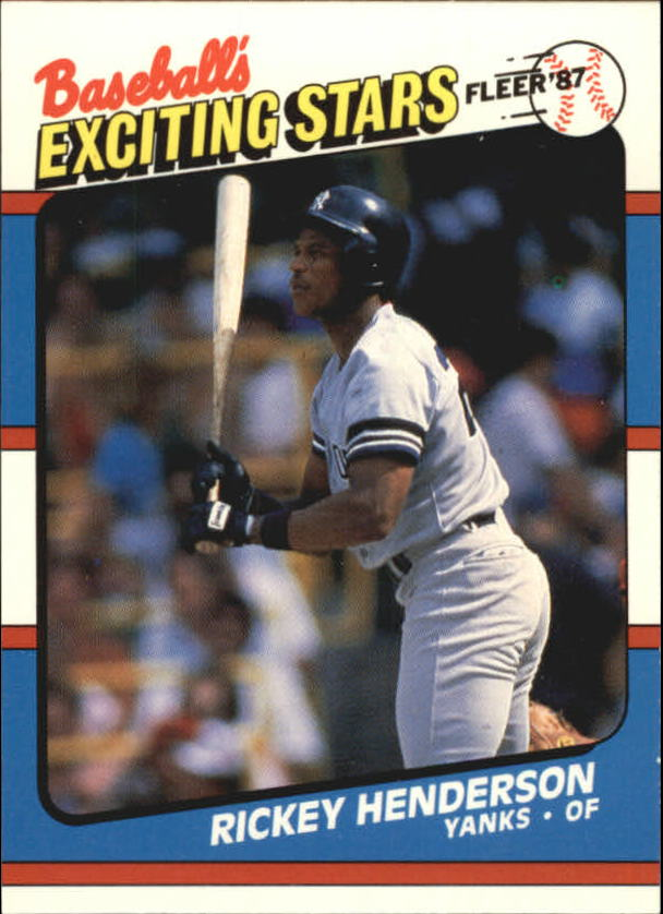 1987 Fleer Exciting Stars #24 Rickey Henderson