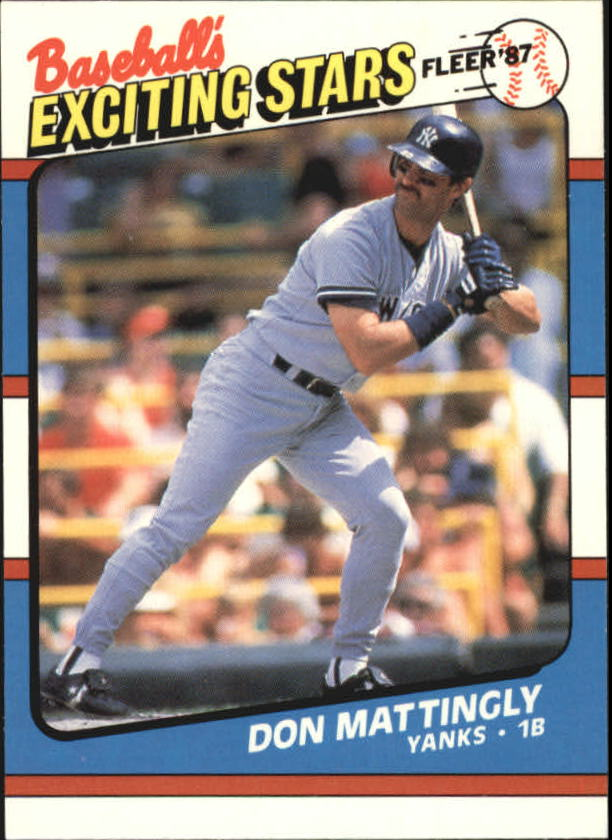 1987 Fleer Exciting Stars #33 Don Mattingly