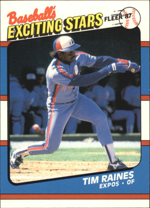 1987 Fleer Exciting Stars #34 Tim Raines