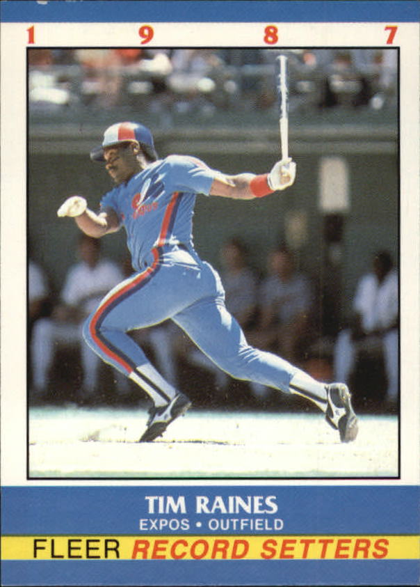1987 Fleer Record Setters #30 Tim Raines