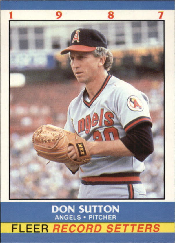 1987 Fleer Record Setters #37 Don Sutton