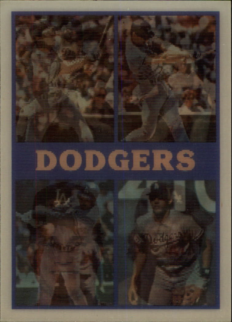 1987 Sportflics Team Preview #14 Los Angeles Dodgers/Mike Scioscia/Steve Fax/Fer