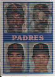 1987 Sportflics Team Preview #16 San Diego Padres/Tony Gwynn/John Kruk/Kevin Mit