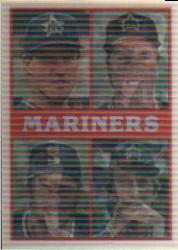 1987 Sportflics Team Preview #25 Seattle Mariners/Dave Valle/Donell Nixon/Scott