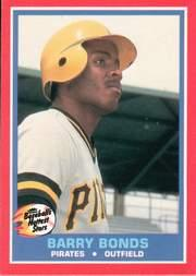 1987 Fleer Hottest Stars #5 Barry Bonds