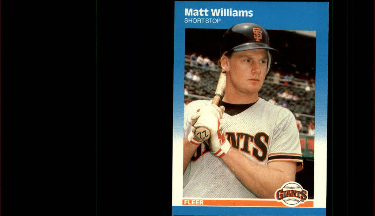 1987 Fleer Update #129 Matt Williams XRC
